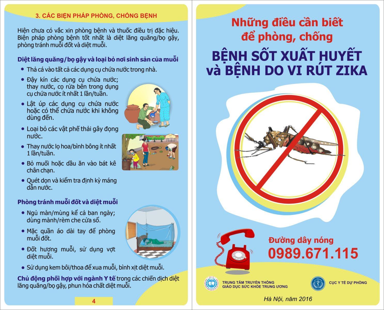 Phòng chống dịch bệnh do virut Zika.